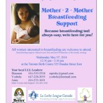 Mother – 2 – Mother Breastfeeding Support starts May 7th!