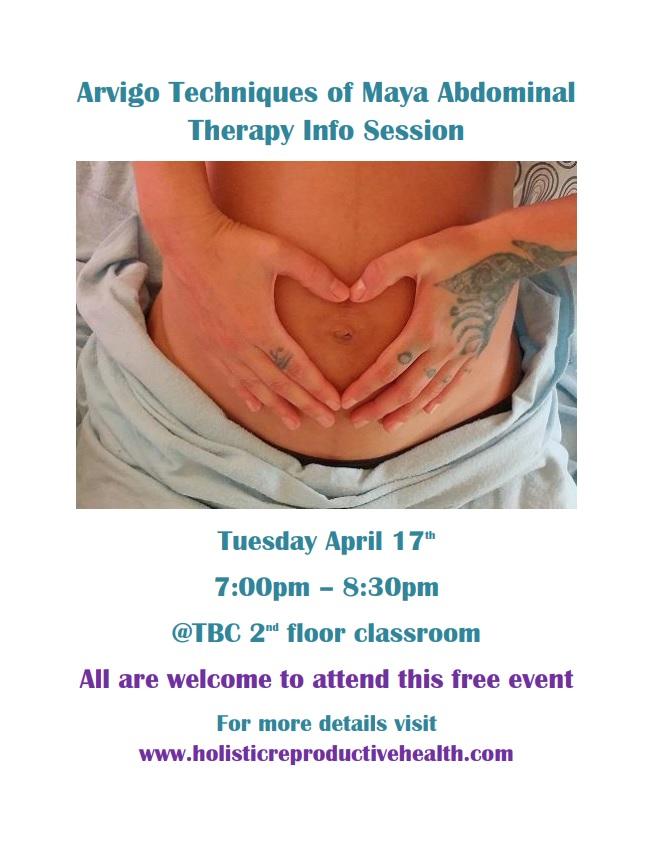 Arvigo Techniques of Maya Abdominal Therapy Info Session