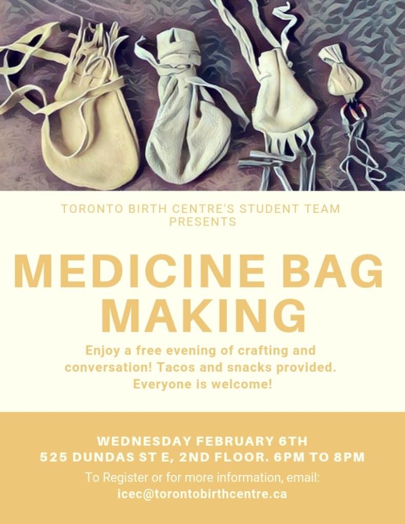 Medicine Bag Workshop Flyer