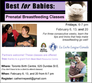 Mother 2 Mother PRENATAL Breastfeeding Support flyer jan 21